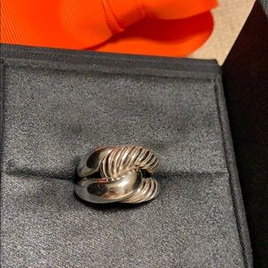Authentic David Yurman sterling ring. Six.